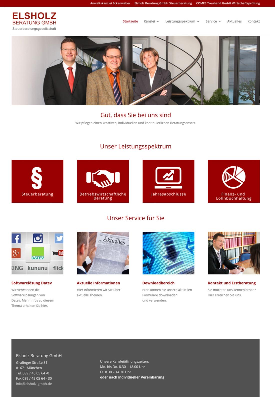 Onepager der Steuerberater der Elsholz GmbH