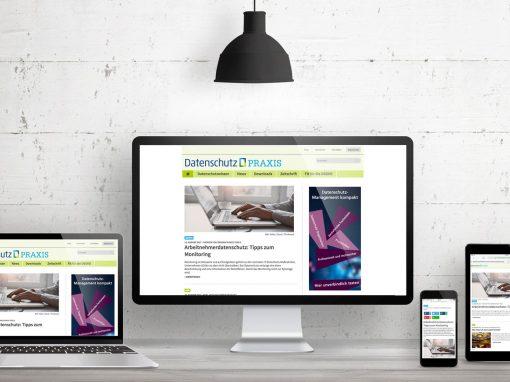 Datenschutz-Praxis – Editorialdesign und Webdesign Zeitschrift für Datenschutz
