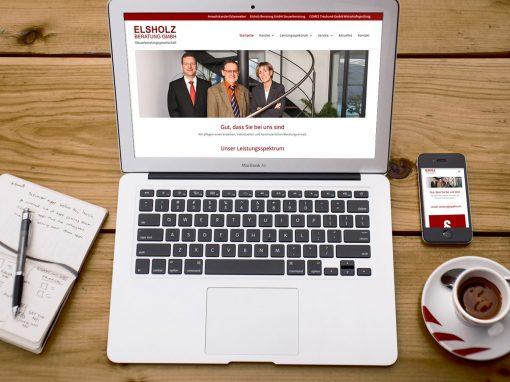 Elsholz GmbH – Logodesign und Webseite Steuerberatung München