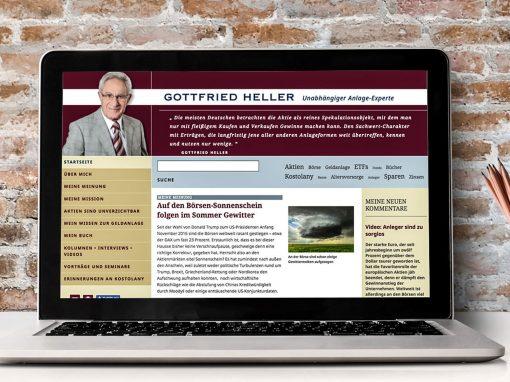 Gottfried Heller – Website und Newsletter für einen Anlage-Experten