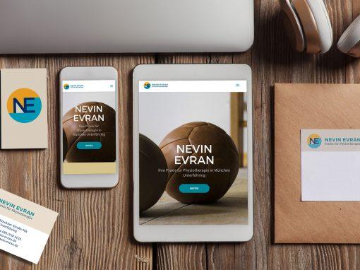 Nevin Evran – Logodesign und Webseite Praxis für Physiotherapie Unterföhring