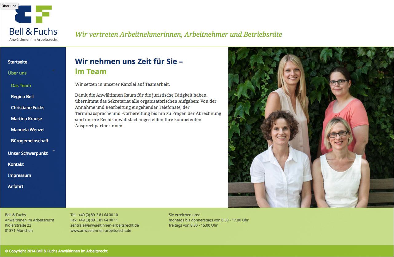Bell-und-Fuchs-Teamseite