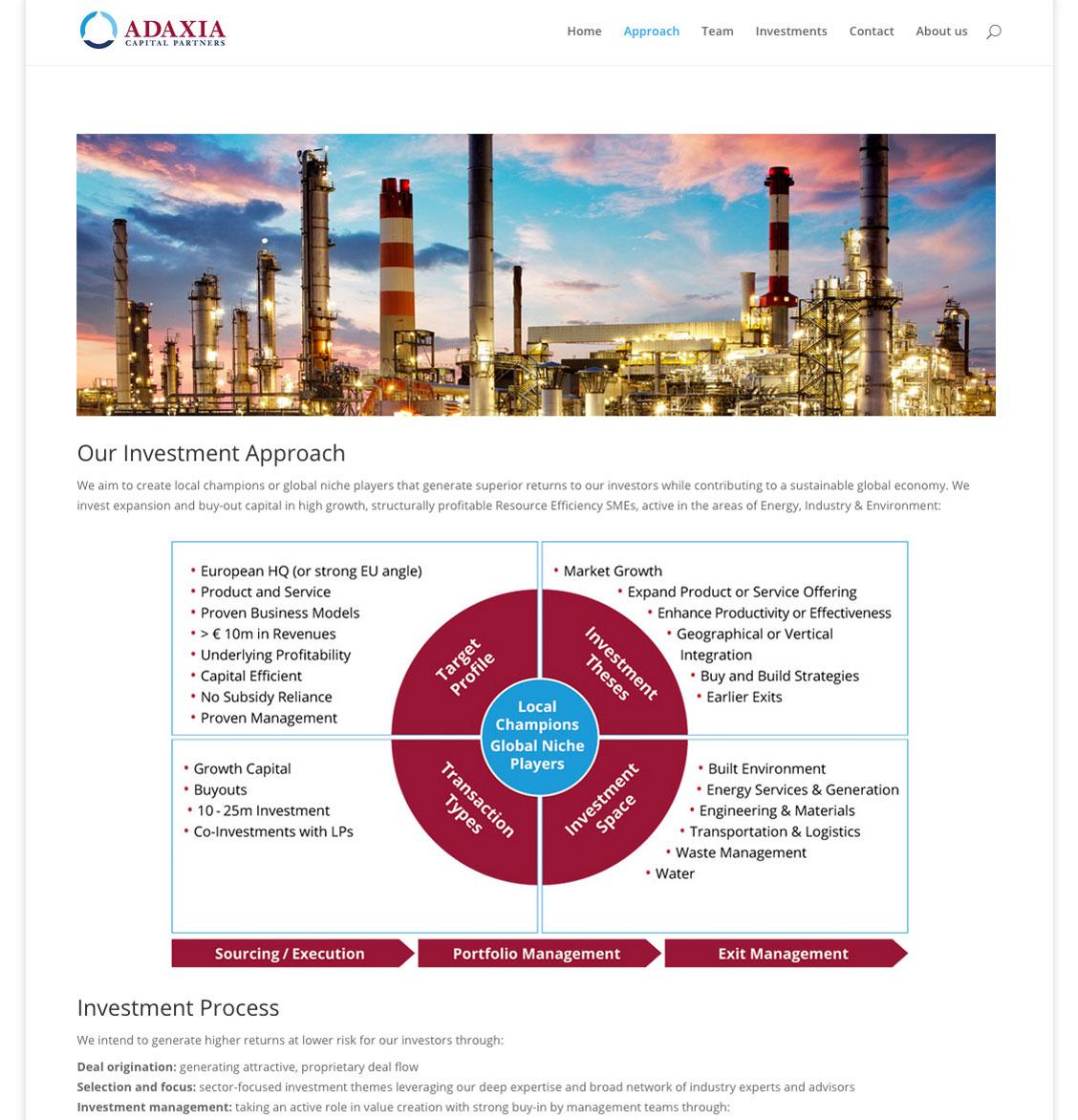 Auf der Adaxia-Strategieseite wird die Investmentstrategie vorgestellt.