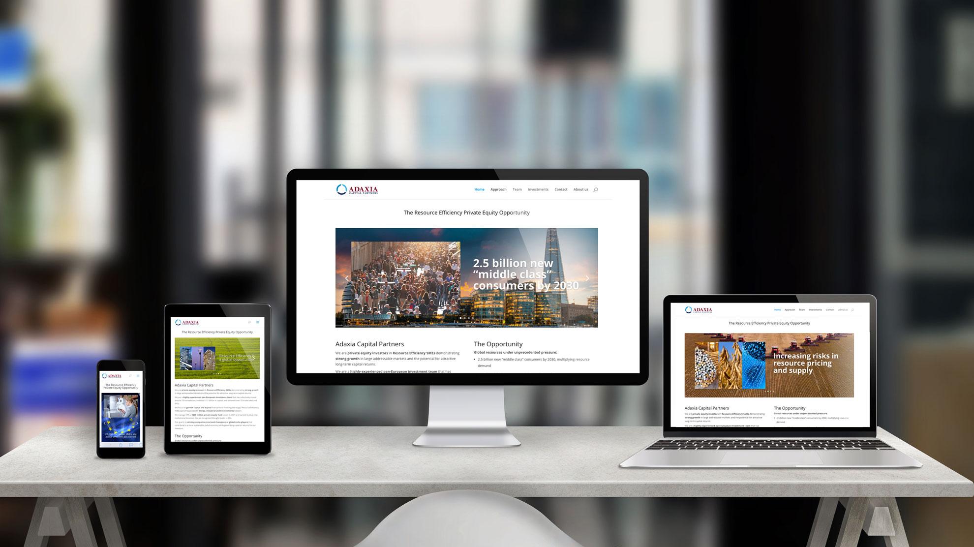 Responsives Webdesign aus München: die Webseite von Adaxia