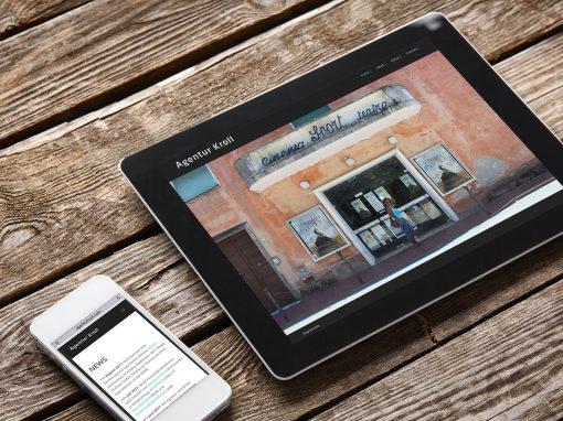 Agentur Kroll – Logodesign und Webdesign für eine Agentur für Filmrechte