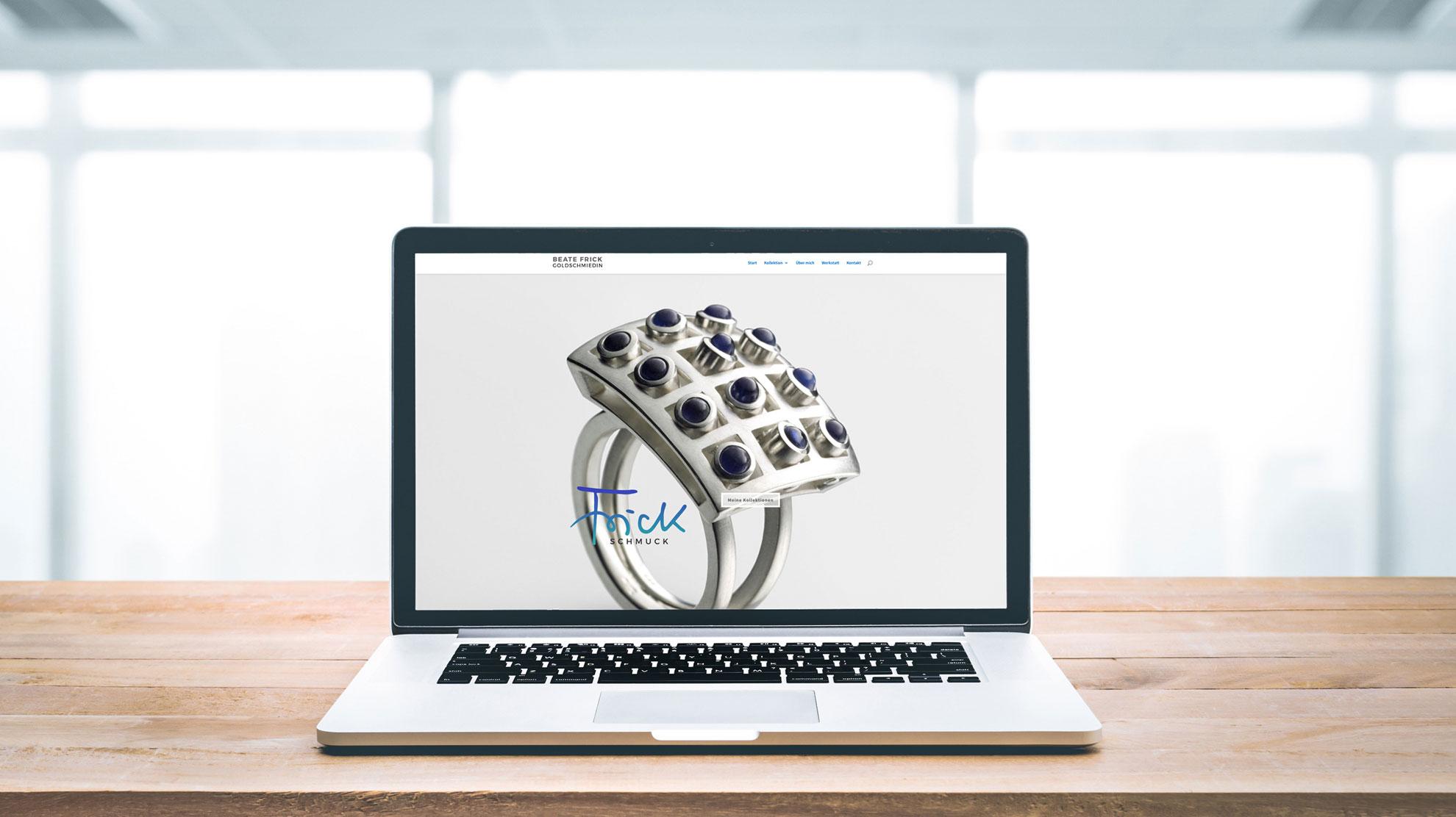 Unser schönstes Webdesign am Beispiel von Beate Frick-Goldschmiedin