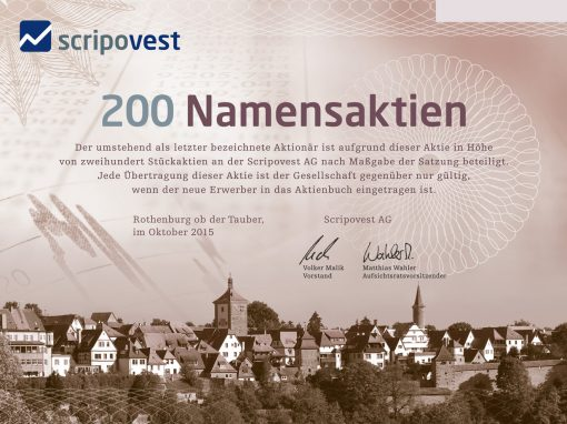 Scripovest AG – Webdesign und Corporate Design für einen Vertrieb für Historische Wertpapiere