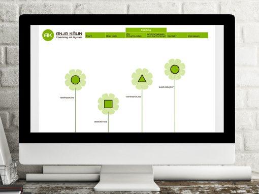 Coaching mit System – Webdesign und Corporate Design für eine Coaching-Praxis
