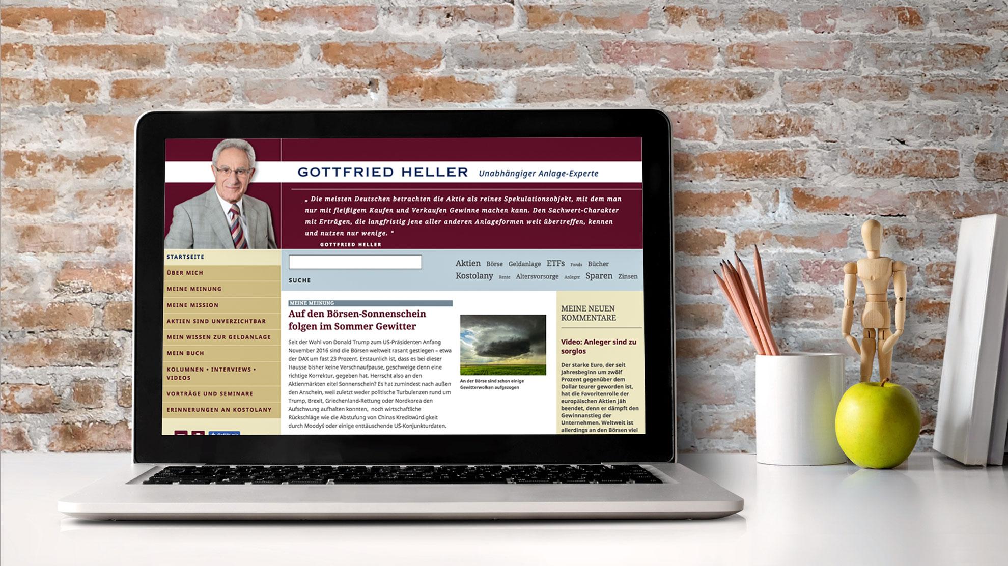 Responsive Website für Anlageexperte Gottfried Heller