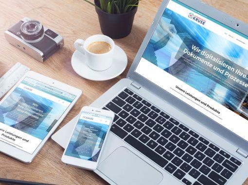 Datenerfassung Kruse – Corporate Design und Webdesign für einen Datenservice