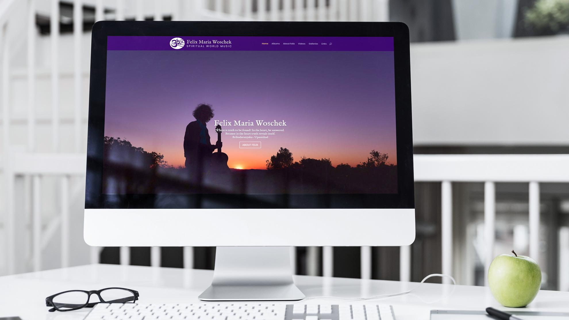 Responsive Webseite für Felix Maria Woschek von punktneun München