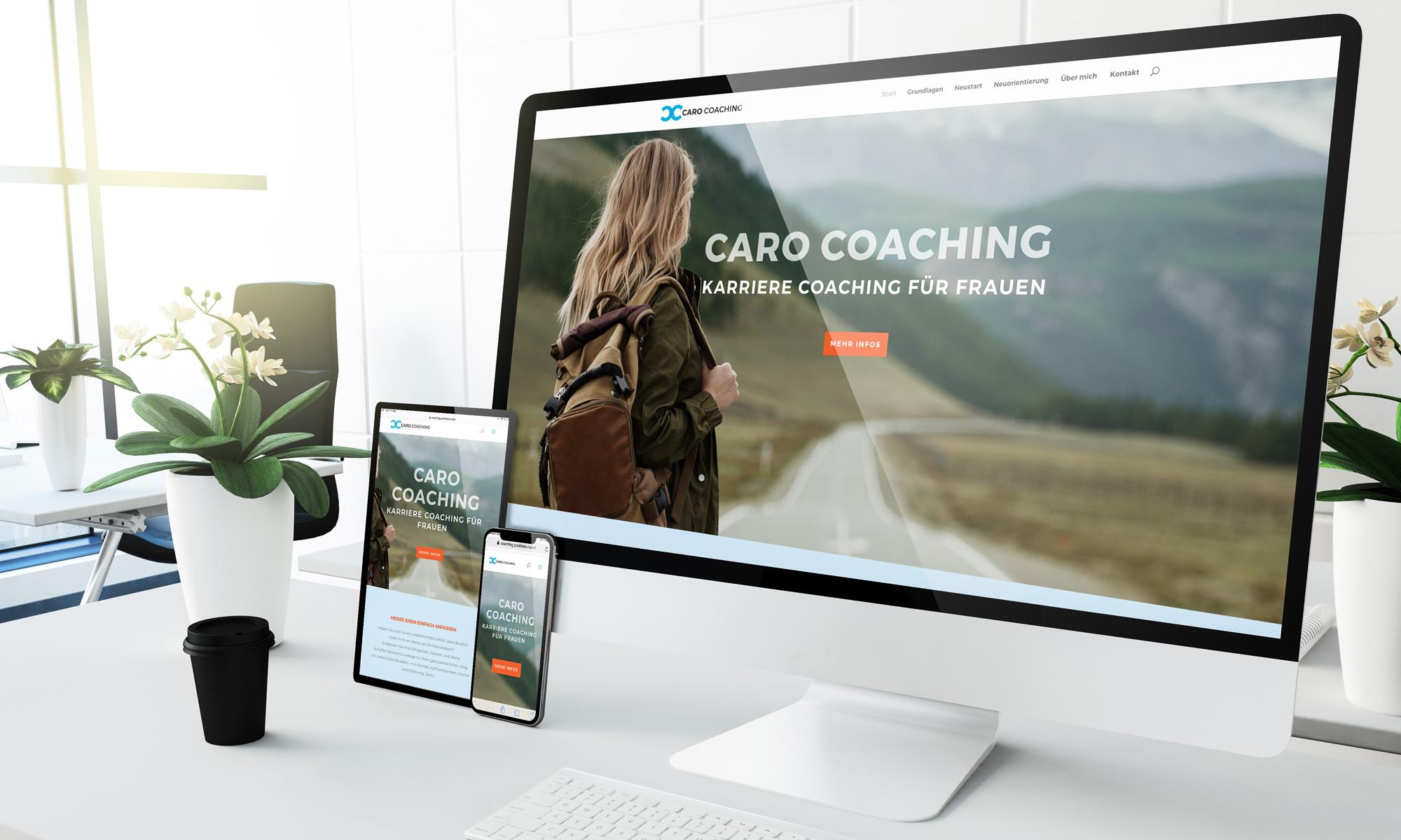 Webseite für einen Coach