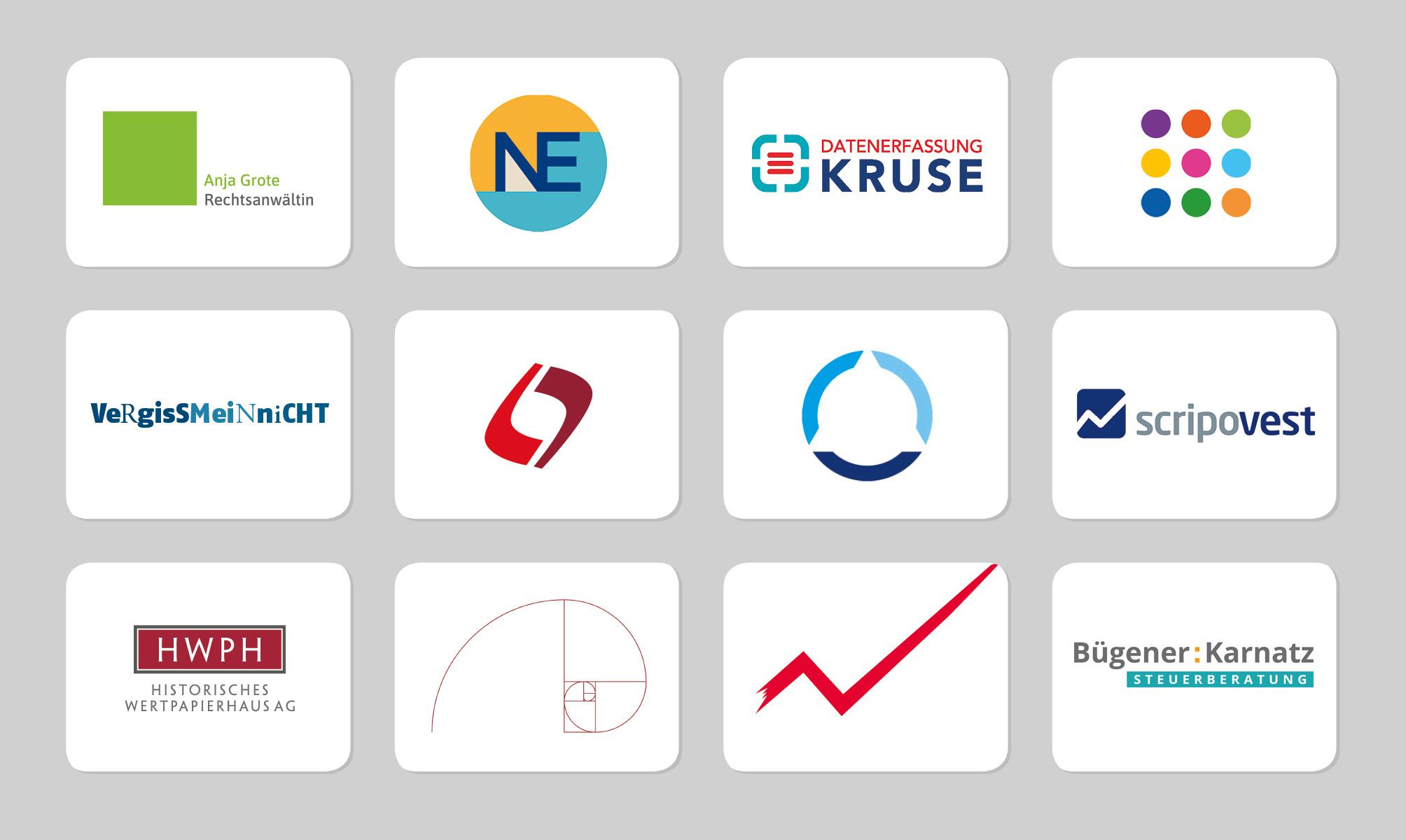 Viele Beispiele für das Logodesign von punktneun