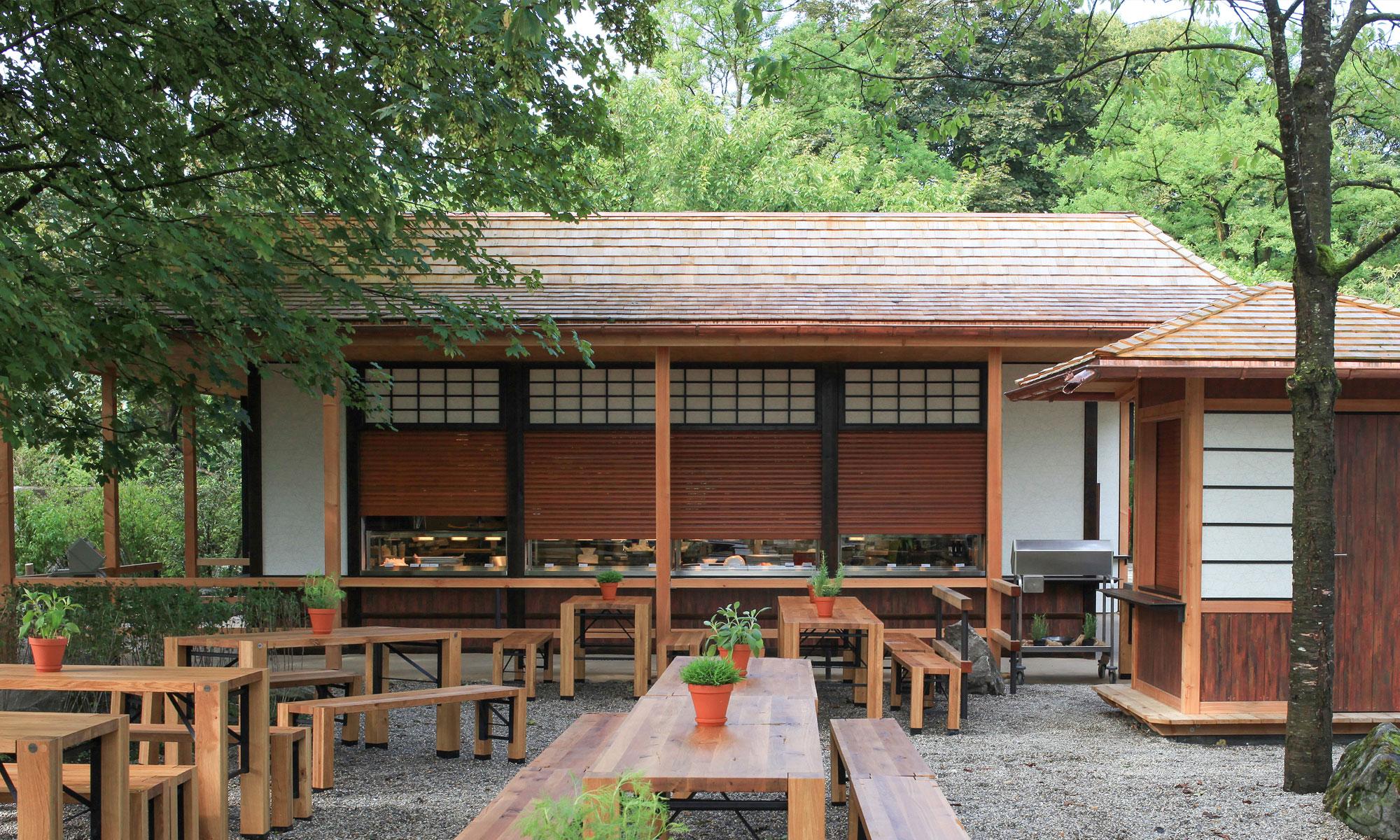 Eine asiatische Gastronomie im Tierpark Hellabrunn in München geplant von Magda Thomsen und Markus Fried