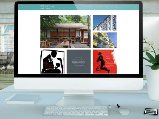 Magda Thomsen – Aufbau einer Website für eine Architektin und Literatin