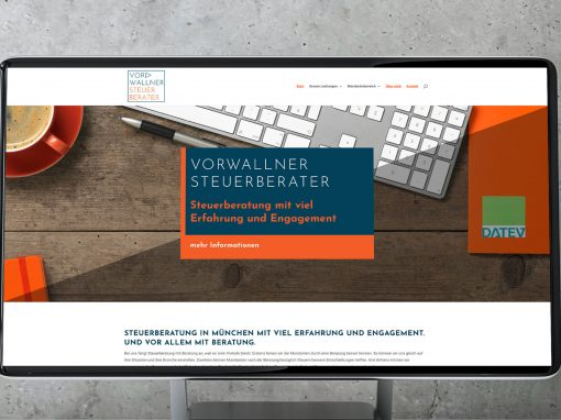 Steuerberater-Website und Logodesign