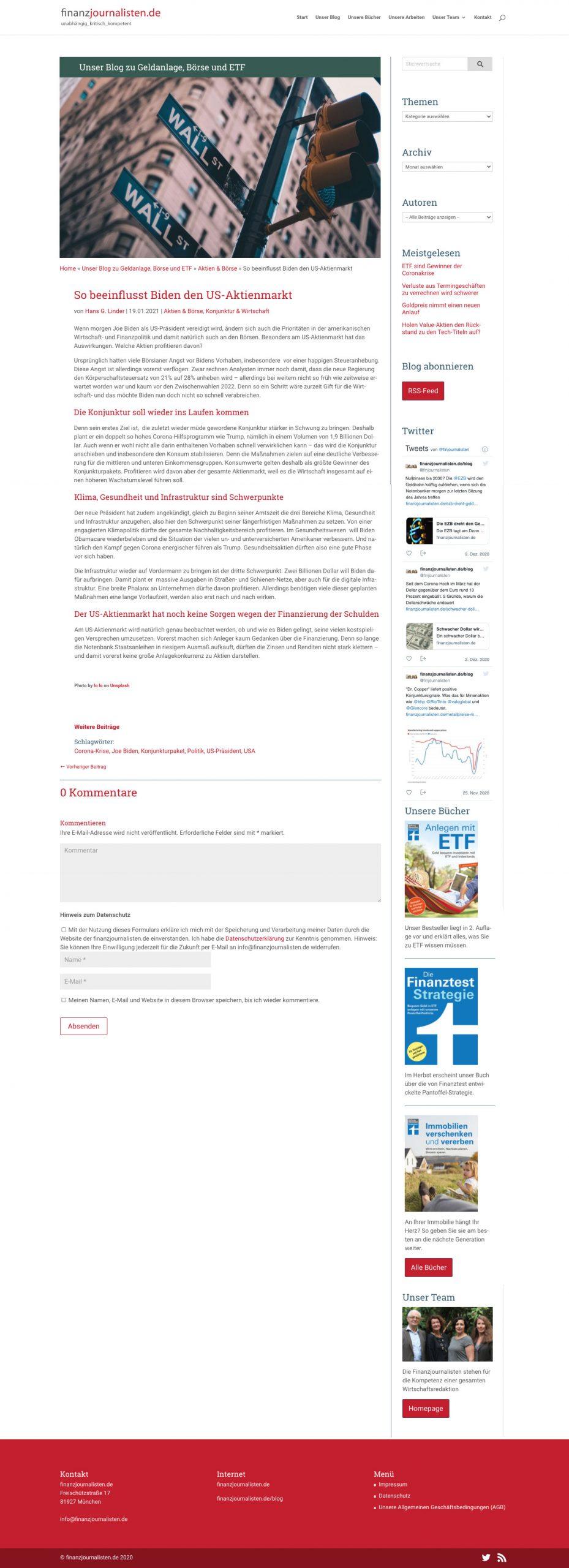Blogseite der finanzjournalisten