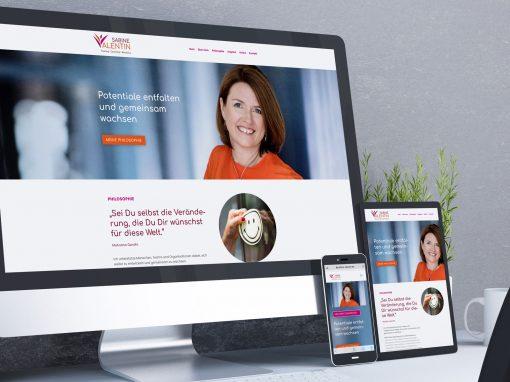 Sabine Valentin – Webseite und CI für Training • Coaching • Beratung