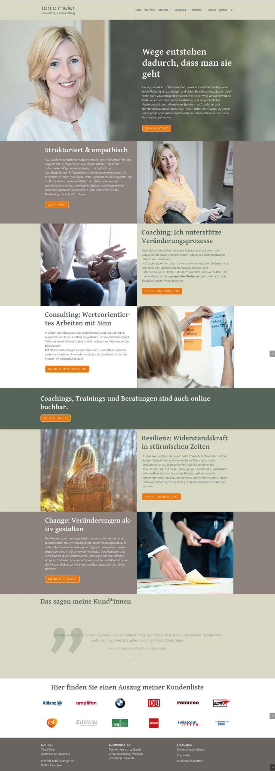 Ein Onepager zeigt alle wichtiegn Informationen auf einer Website