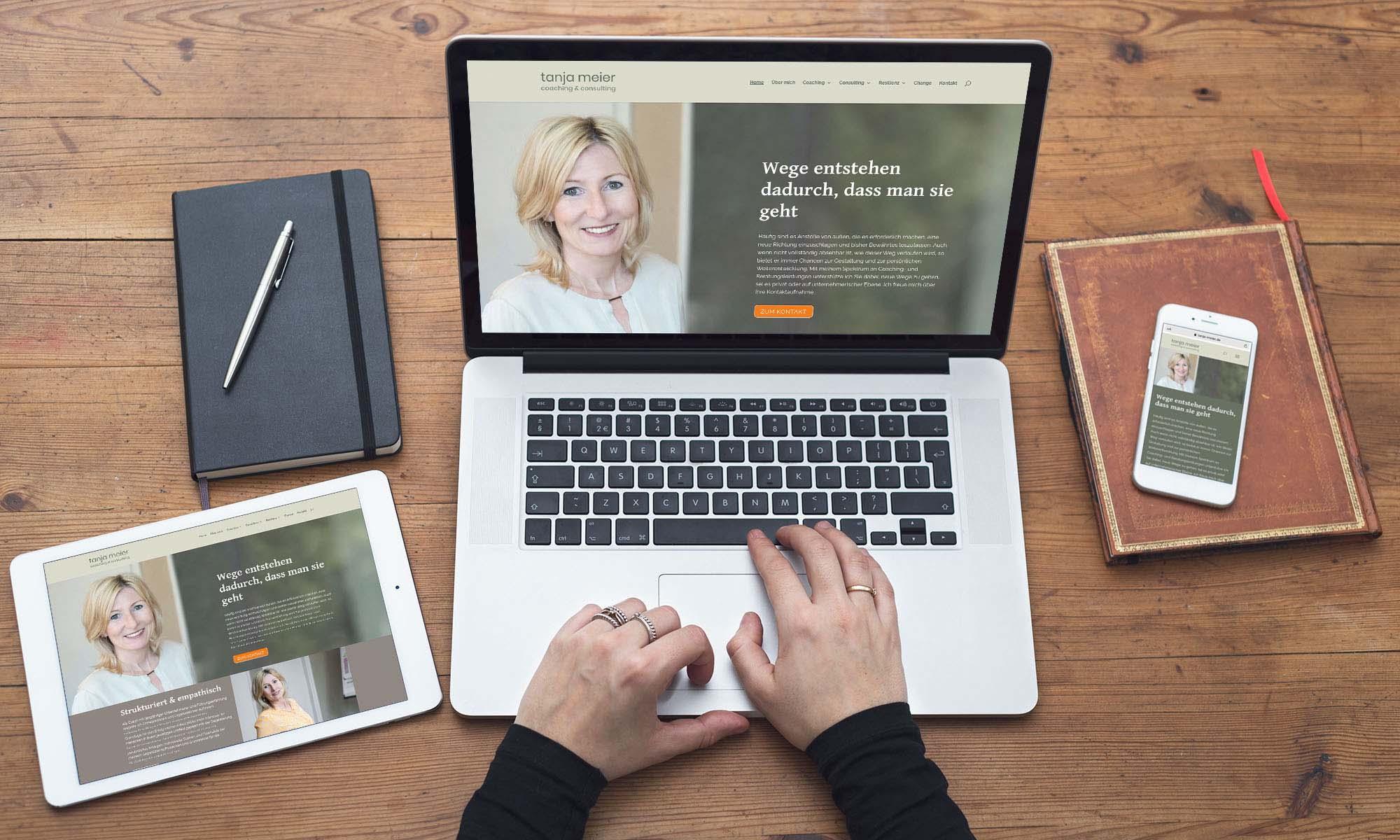 Die Website von Tanja Meier, Coaching und Consulting ist online