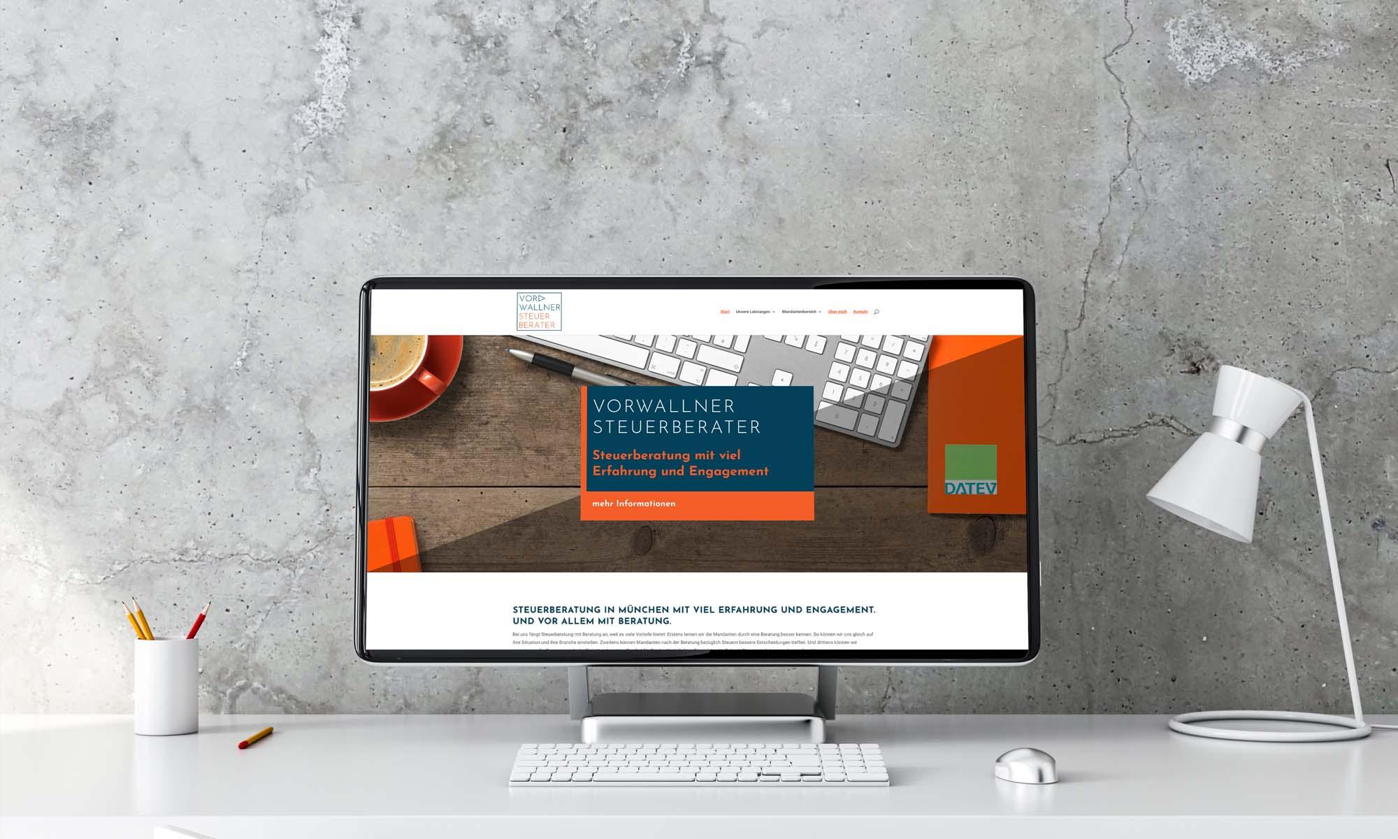 Die Steuerberater-Webseite ist modern und informativ